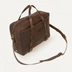 Bleu de chauffe - sac business brun