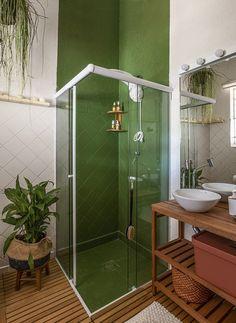 Diy Bathroom Vanity, Bathroom Interior, Small Bathroom, Modern Bathroom, Interior Exterior, Interior Design, Diy Casa, Kitchen Wallpaper, Diy Bedroom Decor
