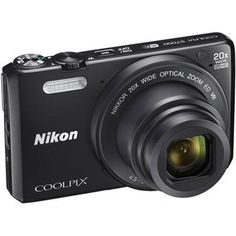Nikon Coolpix S7000 16 MP Digital Camera with 20x Optical IS Zoom 3-Inch LCD ...