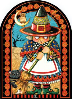 witching you a happy halloween - mary engelbreit
