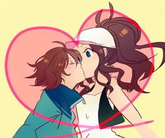 Touya x Touko Chessshipping kiss~