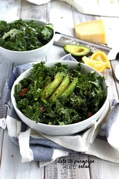 Date and Parmesan Kale Salad-The Almond Eater
