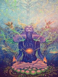 Chakras illustration - www. Sacred Geometry Art, Sacred Art, Psychedelic Art, Inspiration Art, Art Inspo, Cosmic Art, Psy Art, Goddess Art, Earth Goddess