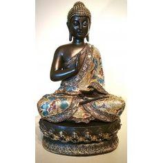 Boeddha beeld bekleed met stof 38 cm