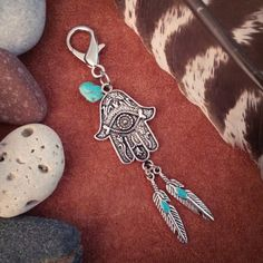 New Handmade Unique Native Tassel Shell Car Bag Key Chain Indian Gypsy Turkish