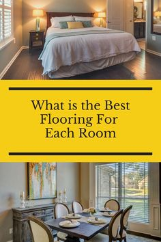 Have you ever wondered what type of flooring would work best in each room of your house? Luckily, you do not have to wonder anymore because we listed it out here. Flooring 101, Best Flooring, Types Of Flooring, Good Things, Bed, Room, House, Furniture, Home Decor