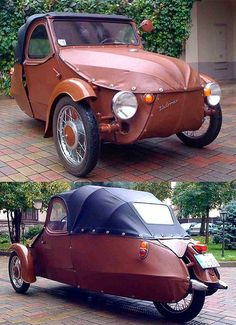 Auto repairs can seem complex and intimidating at first, but really the basics aren't too difficult! Learning more about auto repairs can help you save a Vintage Cars, Antique Cars, Vw Wagon, Morgan Cars, Microcar, Reverse Trike, Minis, Small Cars, Transportation Design