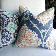 These Gorgeous Pillow Covers are just what you need to update you 18 x 18 in pillows.  Just slip them over your pillows and Wow!  You have a brand new look.  | Jane #affiliate #pillows #homedecor #cottage