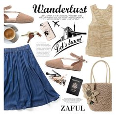 """ZAFUL/ http://www.zaful.com/?lkid=8297"" by helenevlacho ❤ liked on Polyvore featuring Brochu Walker, Passport, Garance Doré, Crate and Barrel and zaful"