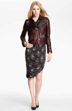 Kelly Wearstler 'Triton' Asymmetrical Leather Jacket available at Nordstrom