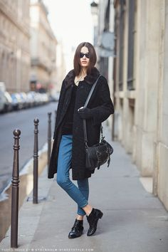 Discover the latest fashion trends from the most fashion forward women around the world. Street Look, Street Style, Street Beat, Street Chic, Tomboy Chic, Parisian Style, Casual Outfits, Winter Outfits, Style Me