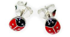 TINY LADYBUG STUD EARRINGS CRAFTED IN .925 STERLING SILVER LEAD & NICKEL FREE! $15.99