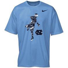 Mens North Carolina Tar Heels Nike Carolina Blue Lacrosse Legend Performance T-Shirt