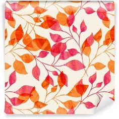 Watercolor Seamless Pattern With Pink And Orange Autumn Leaves. Stock Vector - Illustration of leaf, october: 46763971 Autumn Leaves Background, Kitchen Artwork, Leaves Vector, Perfume, Background Vintage, Pattern Background, Free Illustrations, Free Vector Art, Art Images
