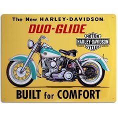 Harley Davidson Built For Comfort Tin Sign