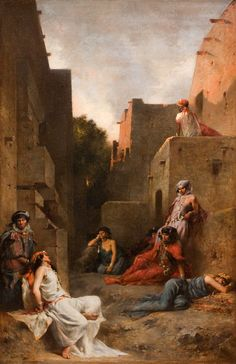 For some reason this painting drew me in. Eugene Fromentin: Women of the Ouled Nayls. Chicago Institute of art