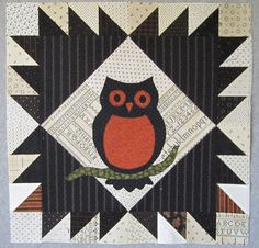 Halloween owl block by Cupcakes 'n Daisies.