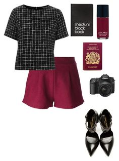 """""""black London."""" by sarahalabi ❤ liked on Polyvore featuring Forte Forte, Topshop, Yves Saint Laurent, Dinks and Liz Earle"""