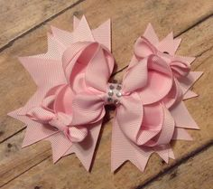 Valentine TBB boutique bow  pink baby toddler by BBgiftsandmore