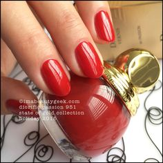 Diorific Vernis Passion 951 - Dior State of Gold Collection Holiday 2015 at imabeautygeek.com
