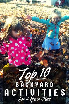 Top 10 Backyard Activities for 4 Year Olds -  #FruitShoot #StuntHunt #sponsored