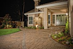 """Let your driveway make a """"Grand Entrance"""" to your home! Our Cambridge Cobble Pavers will definitely make a statement!"""