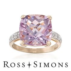 Gorgeous large amethyst ring.  Love it!