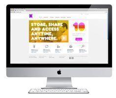 Website design by Moving Brands for cloud storage service CX. #Branding #Design #Website