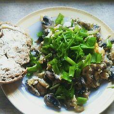 Egss and mushrooms yummy brekfast
