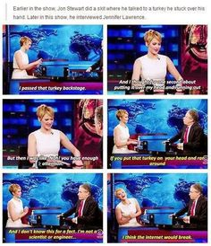 jennifer lawrence on the jon stewart show funny captions - Dump A Day Look Here, Look At You, Jennifer Lawrence Funny, Jennifer Laurence, J Law, Hunger Games Cast, Jon Stewart, Lol, I Smile