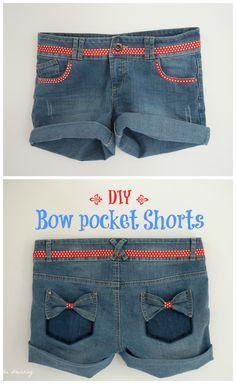 Noeuds en jean sur les poches