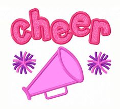 Cheer Megaphone Applique Machine Embroidery by JoyousEmbroidery, $2.99