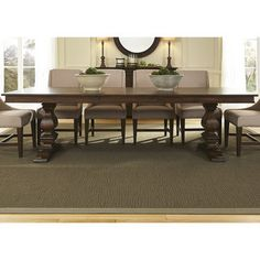 Armand Antique Brownstone Trestle Table and Base