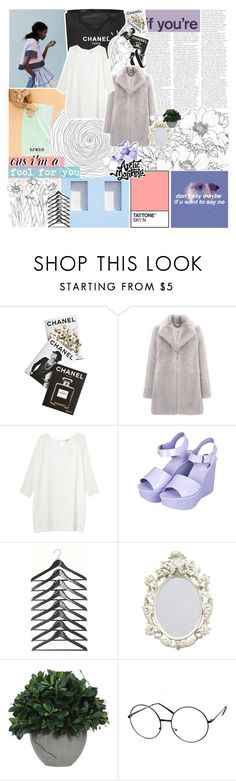 """""""I CAN'T EVEN THINK STRAIGHT"""" by celhestial ❤ liked on Polyvore featuring Chanel, Assouline Publishing, Whistles, Monki, Topshop, Old Navy, Lux-Art Silks and ZeroUV"""