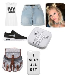 """""""IVY PARK"""" by zaicute on Polyvore featuring beauty, Topshop, LE3NO, NIKE and PhunkeeTree"""