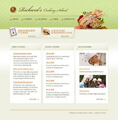 Richard Cooking Website Templates by Oldman School Website Templates, Drupal, Cooking School