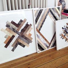 Herringbone Fusion Art Print Paintings and prints (Kristina Krogh)