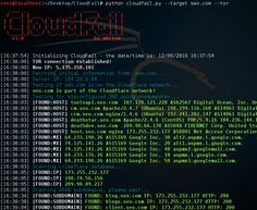 CloudFail is a tactical reconnaissance tool which aims to gather enough information about a target protected by CloudFlare in the hopes of discovering the.