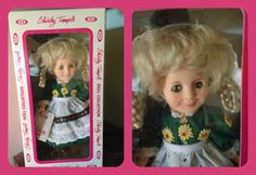 """In 1982 - 1983 Ideal made 8″ versions of Shirley Temple with pale vinyl resembling porcelain. With this COLLECTOR'S EDITION SERIES, they returned to dressing Shirley in outfits from her 1930's film roles. Heidi is a 1937 American musical drama film directed by Allan Dwan. The film is about an orphan named Heidi who is taken from her grandfather (Hersholt) to live as a companion to Klara, a spoiled, disabled girl (Jones). Shirley is dressed as her """"Heidi"""" character in the film. She is MINT!"""