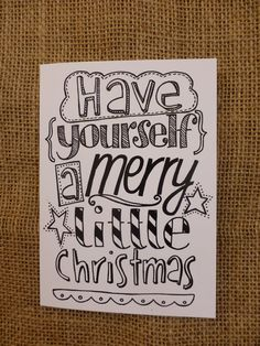 Pack of 4 hand drawn Christmas cards Unique quirky by PaperFudge