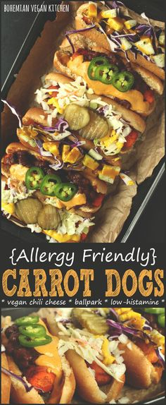 {Allergy Friendly} Easy Vegan Carrot Dogs 3 Ways - Bohemian Vegan Kitchen
