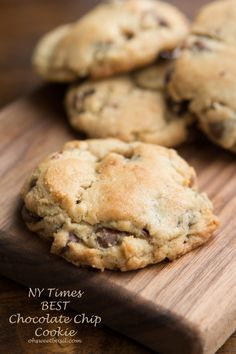 NY Times Chocolate Chip Cookies - Oh Sweet Basil
