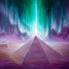 The aurora and the energy of the Cydonia pyramid on Mars
