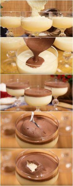 Doce Gelado de Coco com Chocolate, eu AMO essa sobremesa ❤️ (veja a receita passo a passo) #sobremesa #chocolate #sobremesagelada #coco #cococomchocolate #tudogostoso