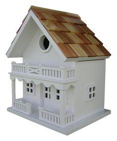 Another great find on #zulily! White Chalet Birdhouse #zulilyfinds