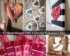 35 Heart Shaped crafts that are easy to make <3