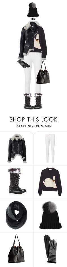 """Warm Boots For Winter"" by ittie-kittie ❤ liked on Polyvore featuring Alexander McQueen, Frame, SOREL, J.W. Anderson, Pistil, Eugenia Kim, H&M, Lauren Ralph Lauren and Waterford"