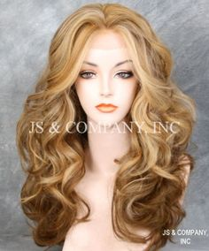 Blonde-Mix-HEAT-SAFE-Lace-Front-wig-Big-Open-Curls-Wavy-layered-NOM-2216