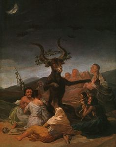 """""""The Witches' Sabbath"""" by Francisco Goya, 1798"""