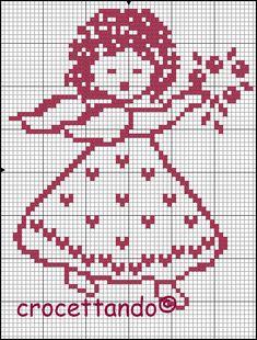 Per te mamma! Stitch And Angel, Cross Stitch Angels, Cross Stitching, Cross Stitch Embroidery, Embroidery Patterns, Filet Crochet, Cross Stitch Designs, Cross Stitch Patterns, Cross Stitch Pictures